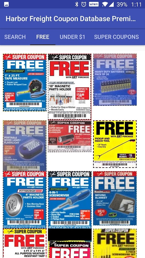Harbor Freight Coupon Database Premium (Ad Free) 1 6 APK Download