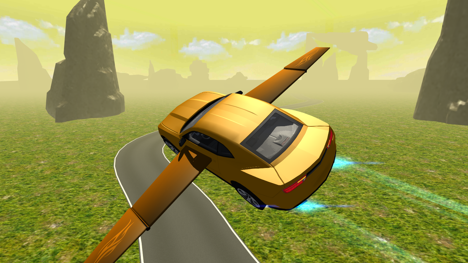 Flying Muscle Car Simulator 3d 2 Apk Download Android Simulation Games