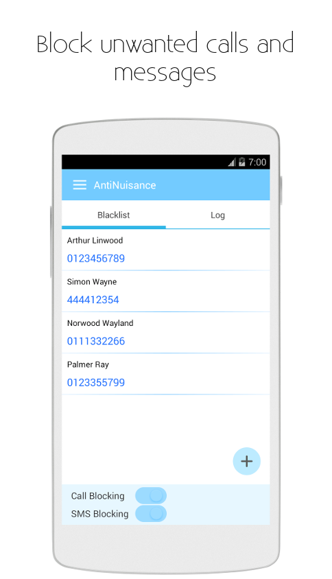 block number sms android