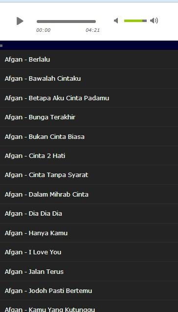 Top Lagu Afgan 1 0 APK Download - Android Entertainment Apps