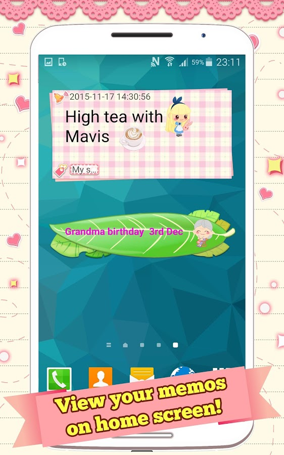 cute memo cloud sticky notes 1 2 0 apk download android