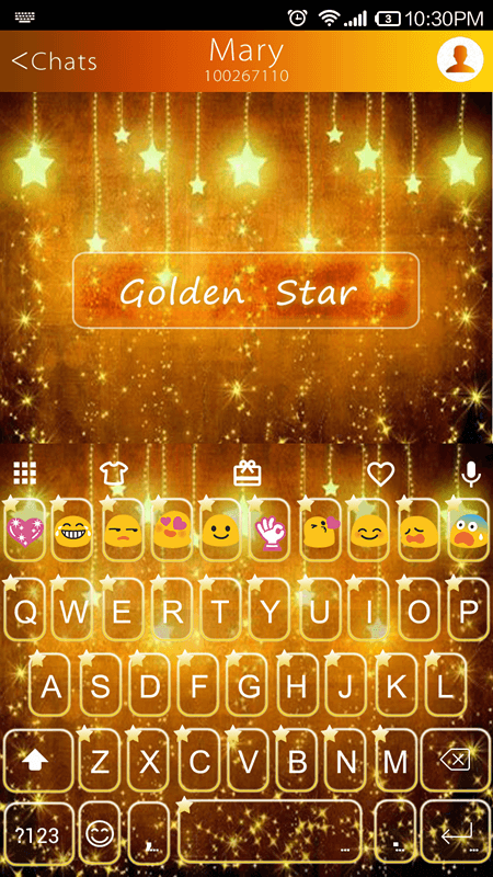 Golden Star Emoji Keyboard 1 6 5 APK Download - Android