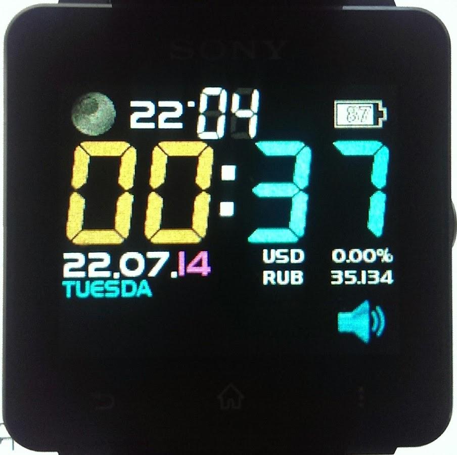 sony digital clock widget apk