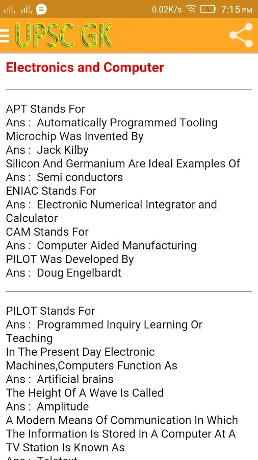 UPSC GK 6 6 APK Download - Android Education Apps