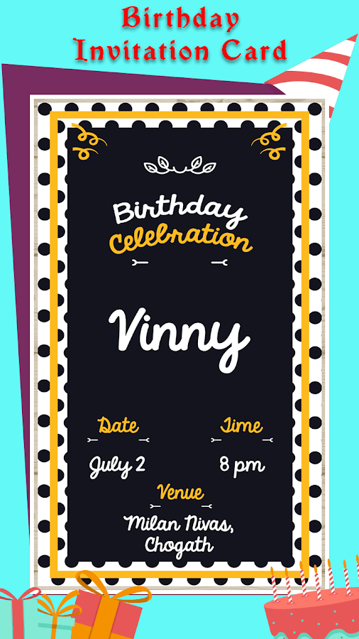 Birthday Invitation Card Maker 3 0 Apk Download Android