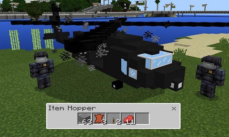 мод на вертолет на майнкрафт 1.0 #5