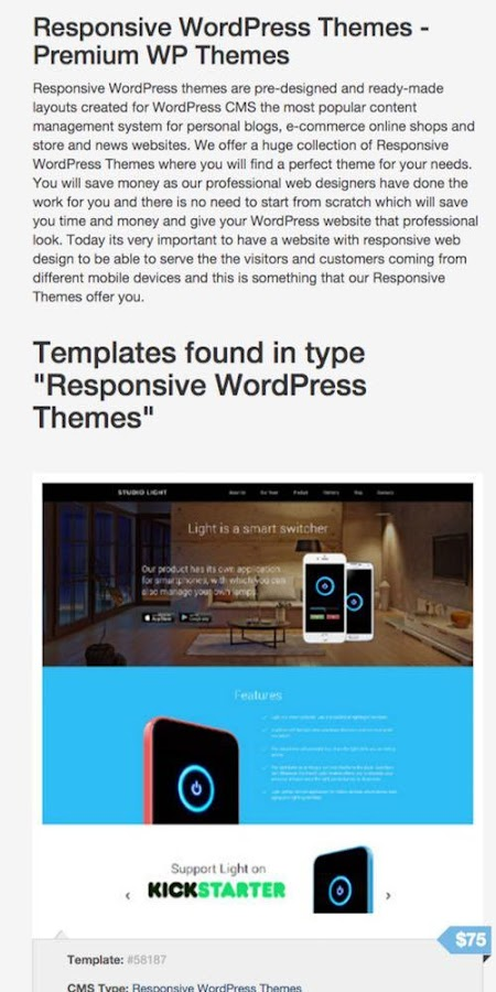 Light Cms Templates | Website Templates And Themes 1 00 Apk Download Android Tools Apps