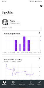 Strong - Workout Tracker Gym Log 2.5 screenshot 1