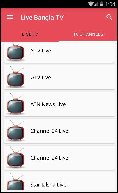 Bangla Live TV - বাংলা টিভি 1 0 2 APK Download - Android