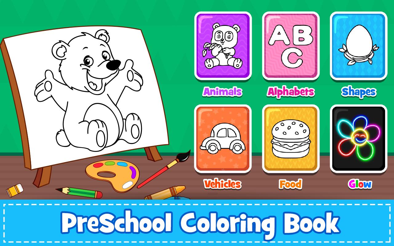 Coloring Games PreSchool Book For Kids 16 Screenshot 17
