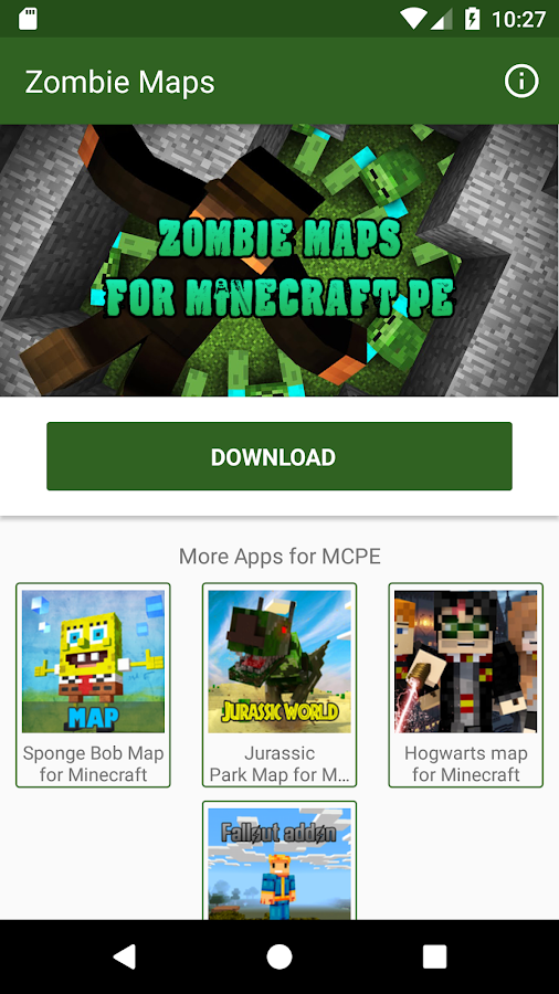 Zombie Maps for Minecraft PE 2.4.1 APK Download - Android Tools Apps
