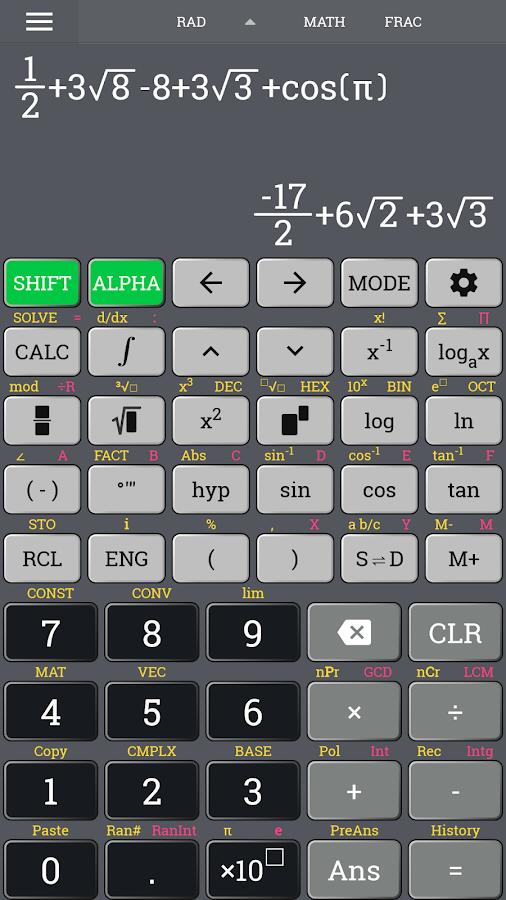 School Scientific Calculator Casio Fx 570 Es Plus 230 Build