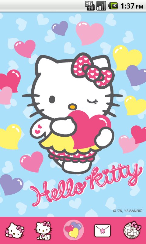 Hello Kitty Color Heart Theme 1 0 APK Download - Android