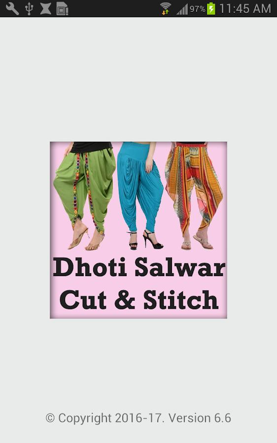 Dhoti Salwar Cutting Stitching 6 6 APK Download - Android