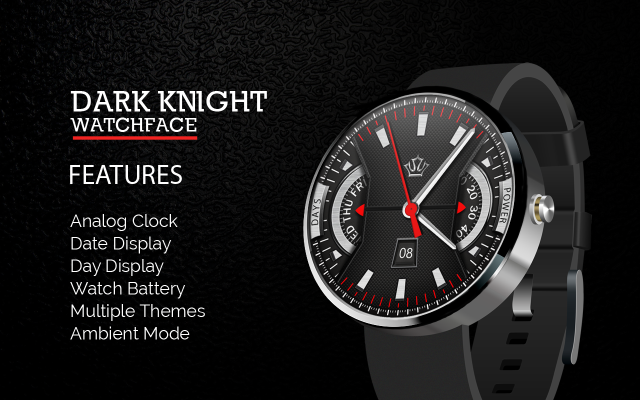 Dark Knight Premium Watch Face 10 Apk Download Android Lifestyle Apps Circuit Board Clock V For G Facerepo Screenshot 1