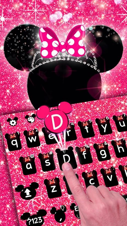 Pink Minnie Glitter Keyboard Theme 10001020 Apk Download