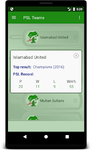 Score & Info of PSL - Pakistan Super League 1.0.2 screenshot 4