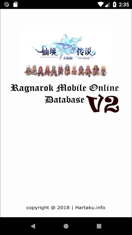 Ragnarok Mobile Online Database 2 0 APK Download - Android Tools Apps