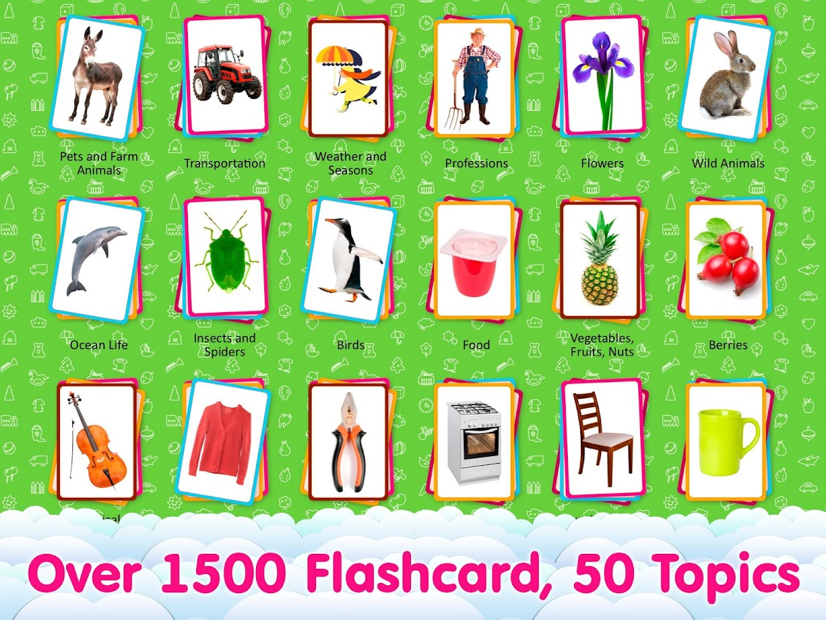 English Flashcards For Kids 2.1.1 APK Download - Android Education Apps