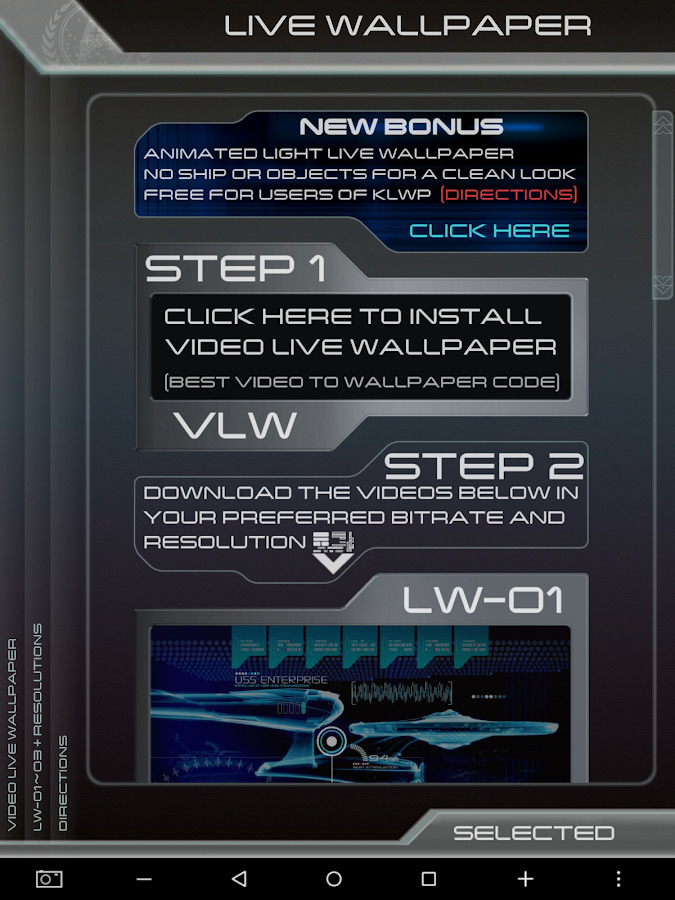 New Trek Live Wallpaper Pack 20 Screenshot 7