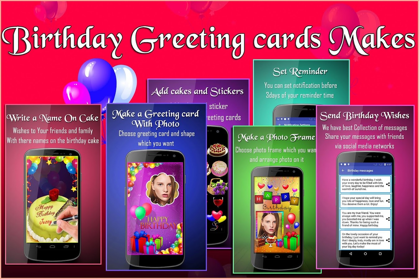 Birthday Greeting Cards Maker Photo Frames Cakes 1035 Apk