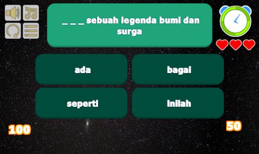 7 Bidadari - Naif Lyric Game 1 screenshot 2