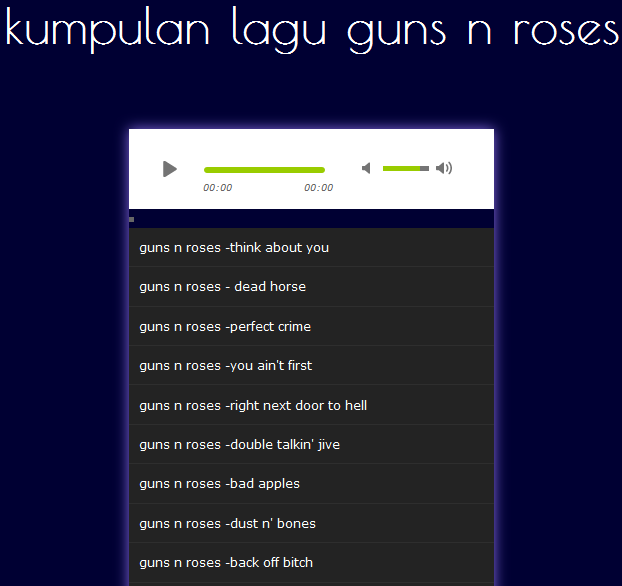 guns roses sweet child o mine mp3