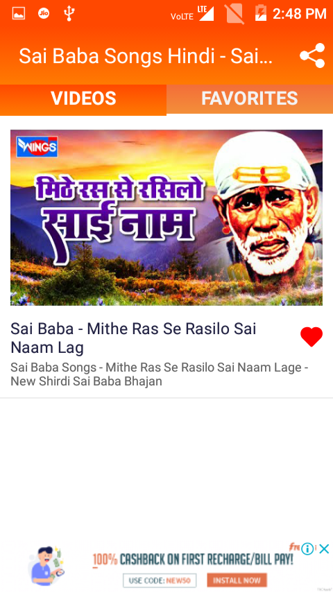 Download Sai Baba Songs Hindi - Sai Baba Bhajan 1.9.9 APK - Android  Entertainment Apps