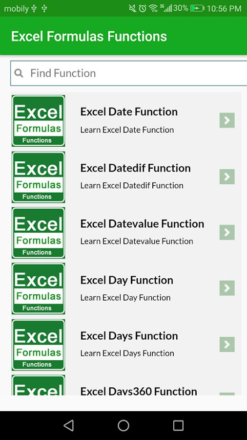 learn excel formulas functions example app offline 4 0 apk download