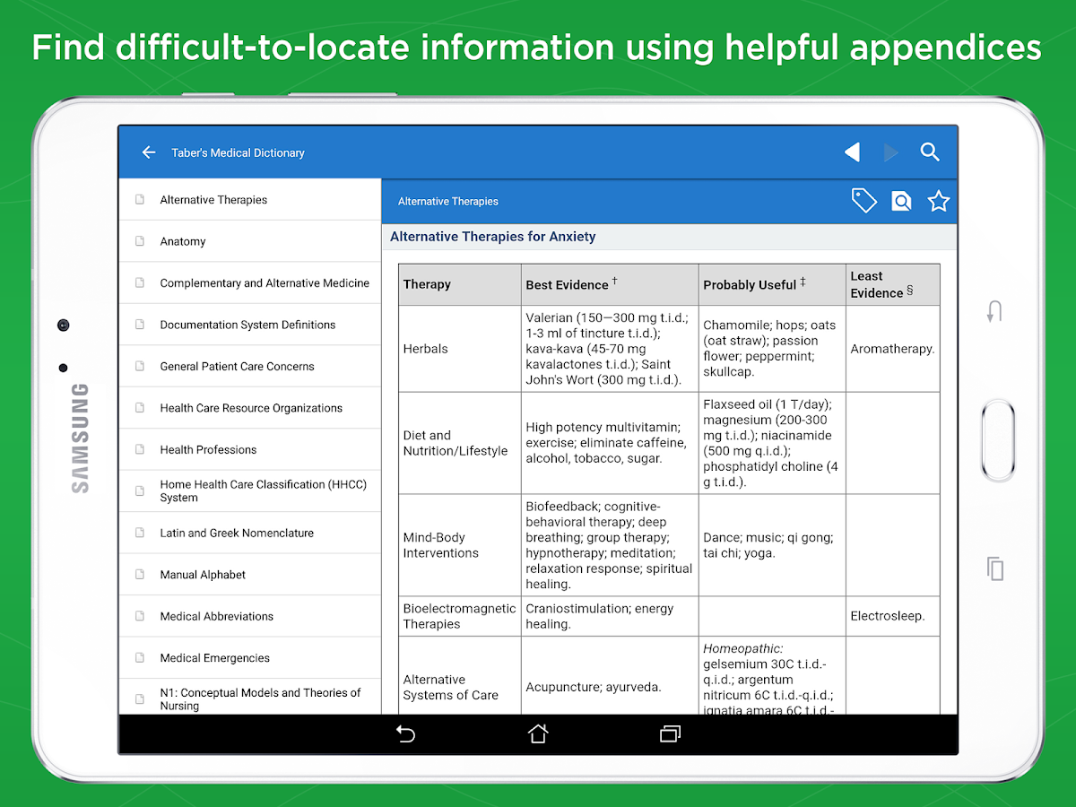 Taber\'s Medical Dictionary... 2.7.37 APK Download - Android Medical Apps