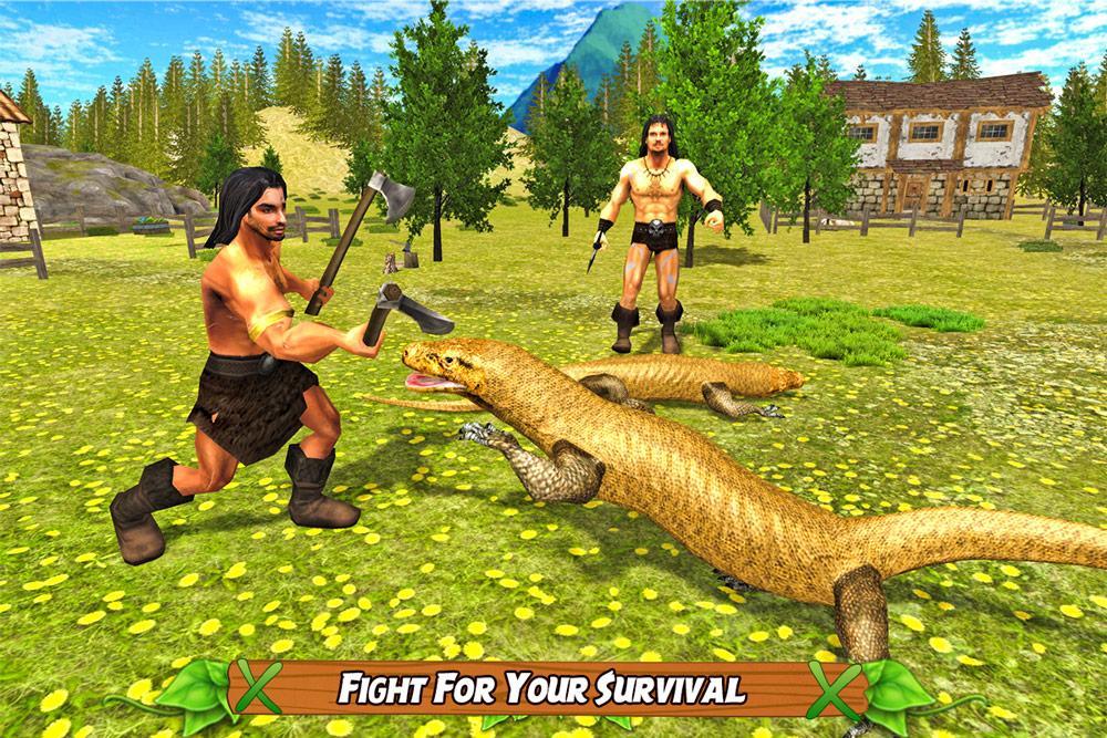 Komodo Dragon Lizard Rampage