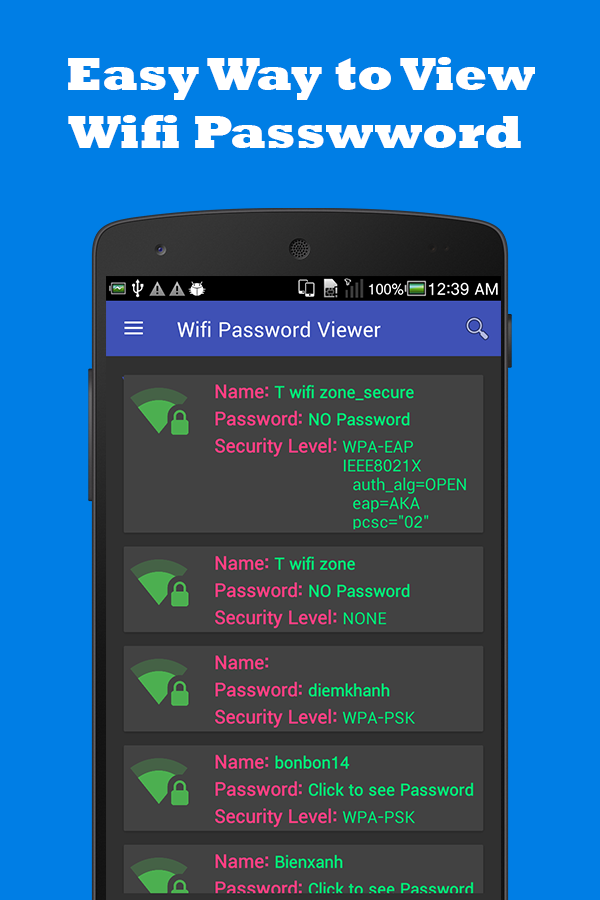Wifi Password Viewer Donate No Ads 1 0 0 APK Download