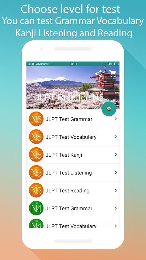 JLPT Practice N5 - N1 7 1 APK Download - Android Education Apps