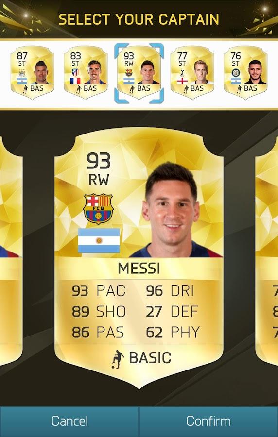 Fifa 16 Messi Card