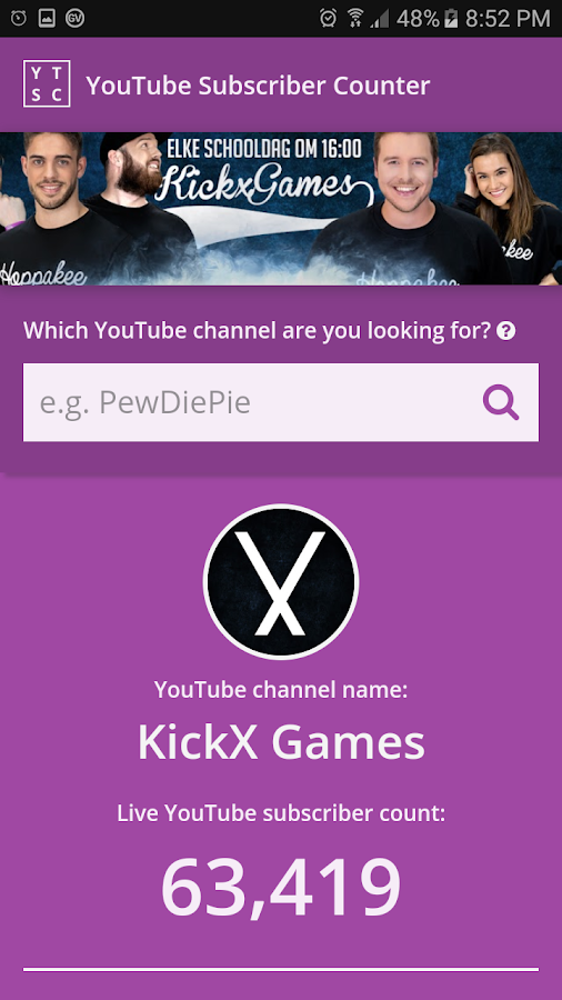 YT SUB COUNTER - YouTube Gaming v1.9