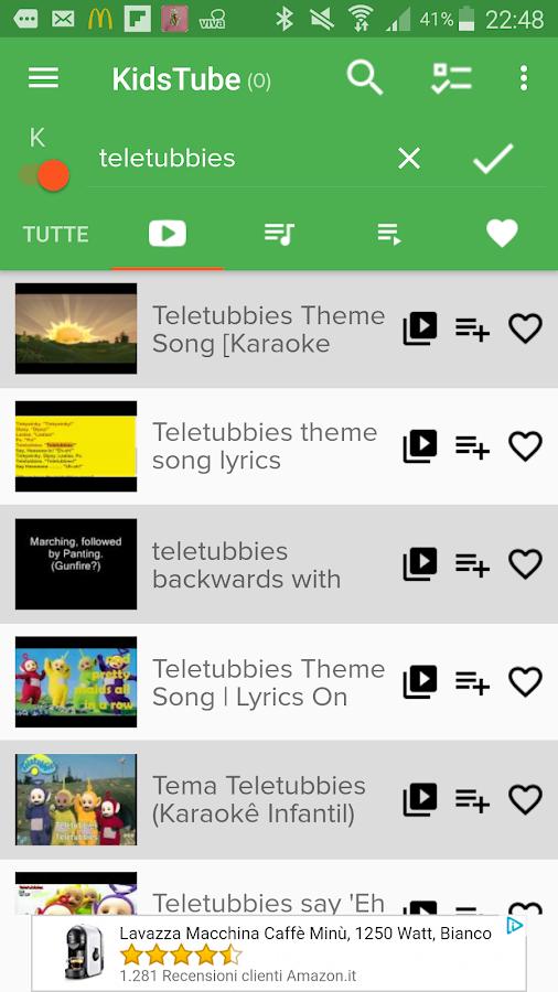 KIDSTUBE - Songs and karaoke for Kids & teenagers 2 18 08 31 APK