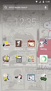 Snoopy theme for APUS 2 screenshot 1