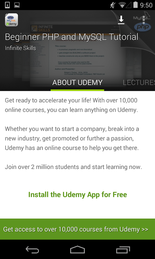 Learn PHP & MySQL by Udemy 1 9 APK Download - Android Education Apps