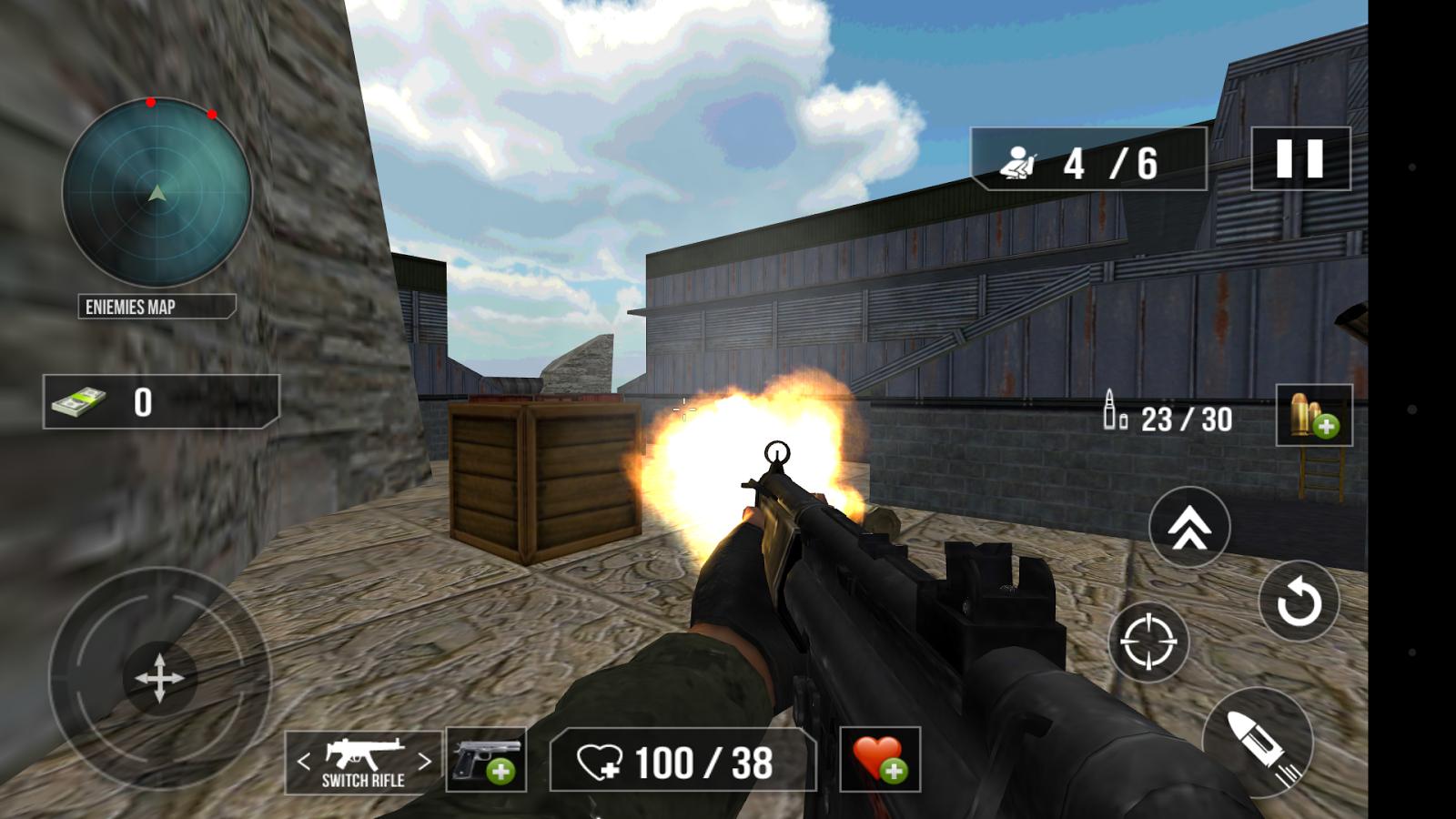 commando action war game mod apk