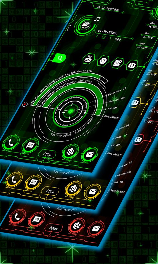 Hi-Tech Launcher 2019 - UI of Future, Theme, Fast 12 0 APK Download