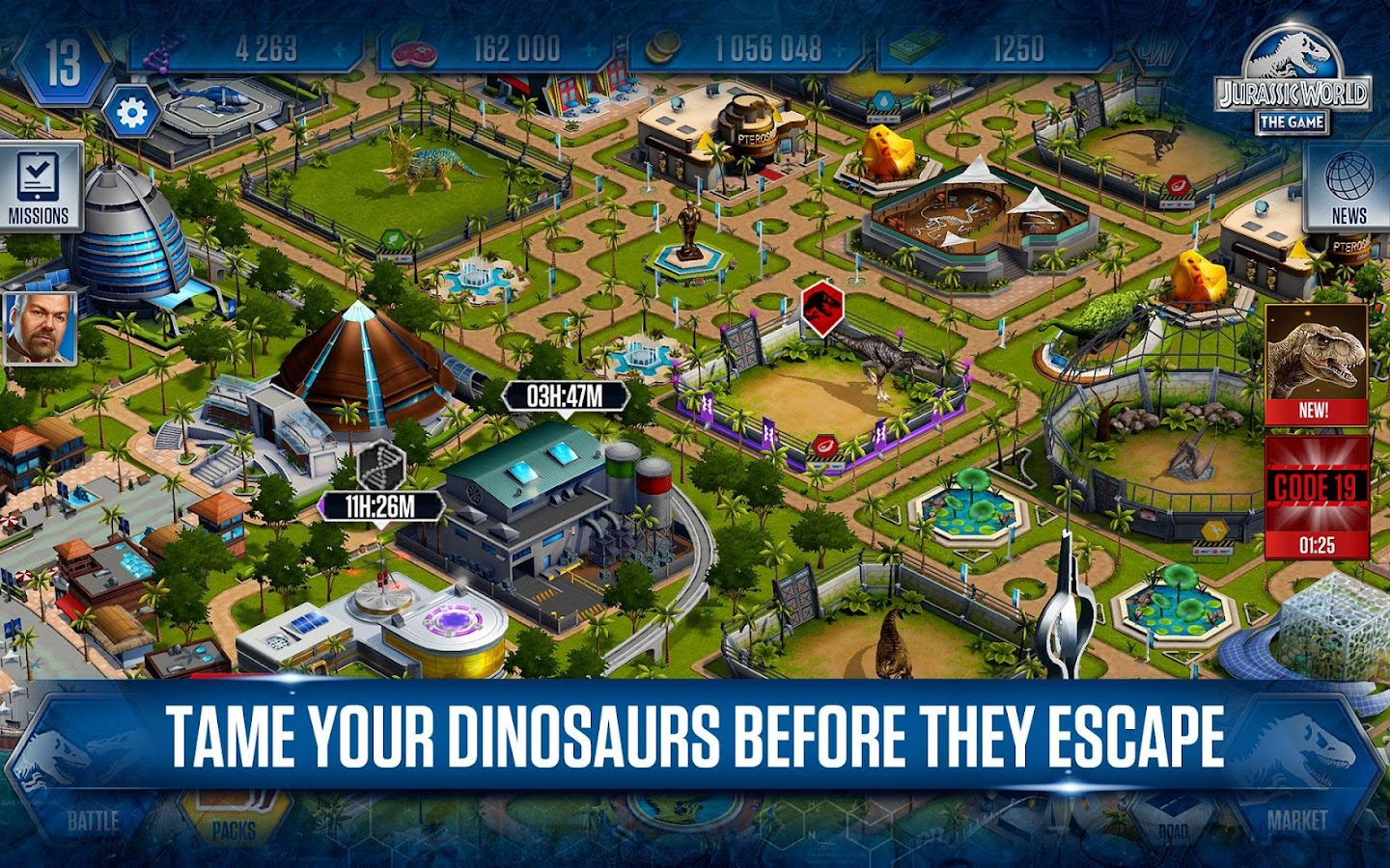 download jurassic world the game mod apk 1.24.1