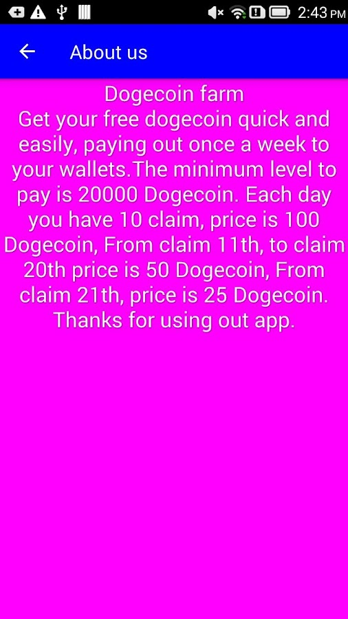 Free dogecoin farm - Highest paying Doge faucet 1 14 APK