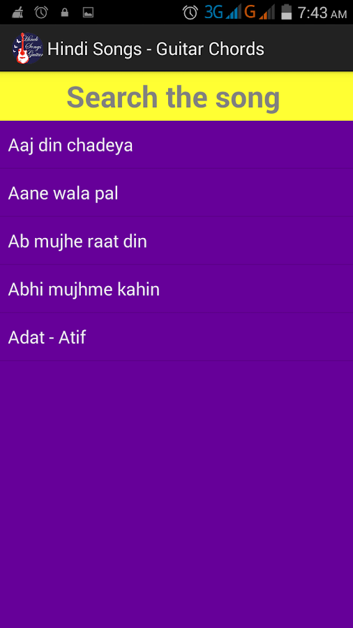 Hindi Songs Guitar Chords FREE 1.0 APK Download - Android Music ...