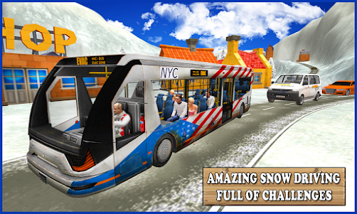 Extreme Snow Bus Driving 1.1 screenshot 3