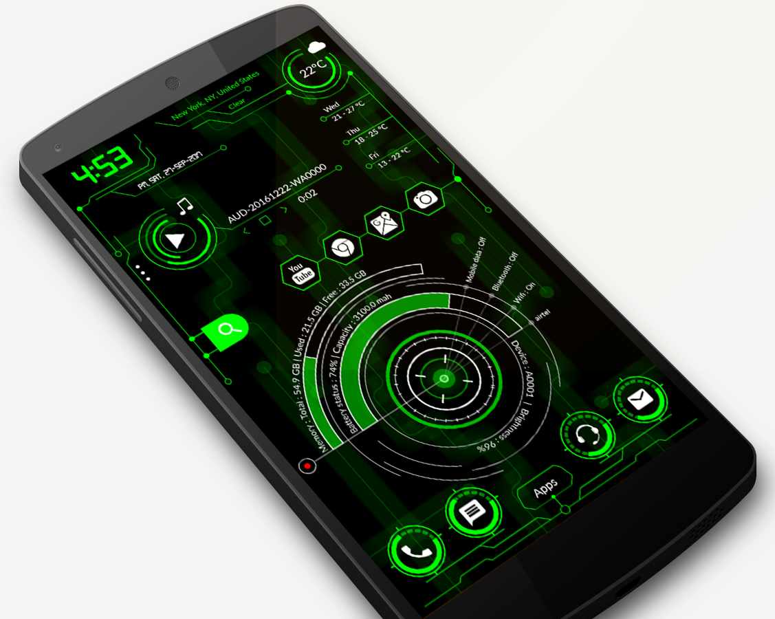 Hi-Tech Launcher 2019 Pro - UI of Future, Theme 12 0 APK