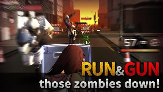 Dead Machine Gun : Zombie Run 0.10101 screenshot 1