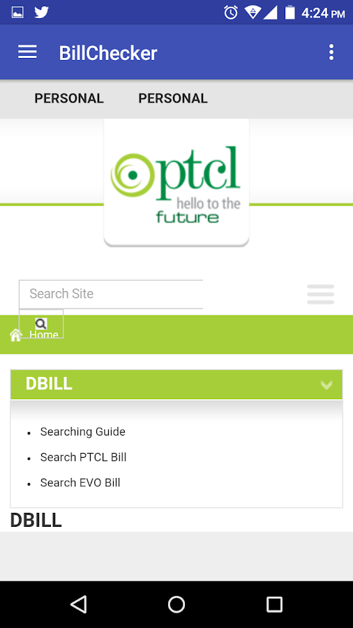 Check Wapda,Gas and Ptcl Bills 1 0 APK Download - Android