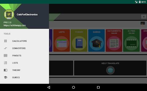 Electronics Engineering Calculators 2.1.0 screenshot 9