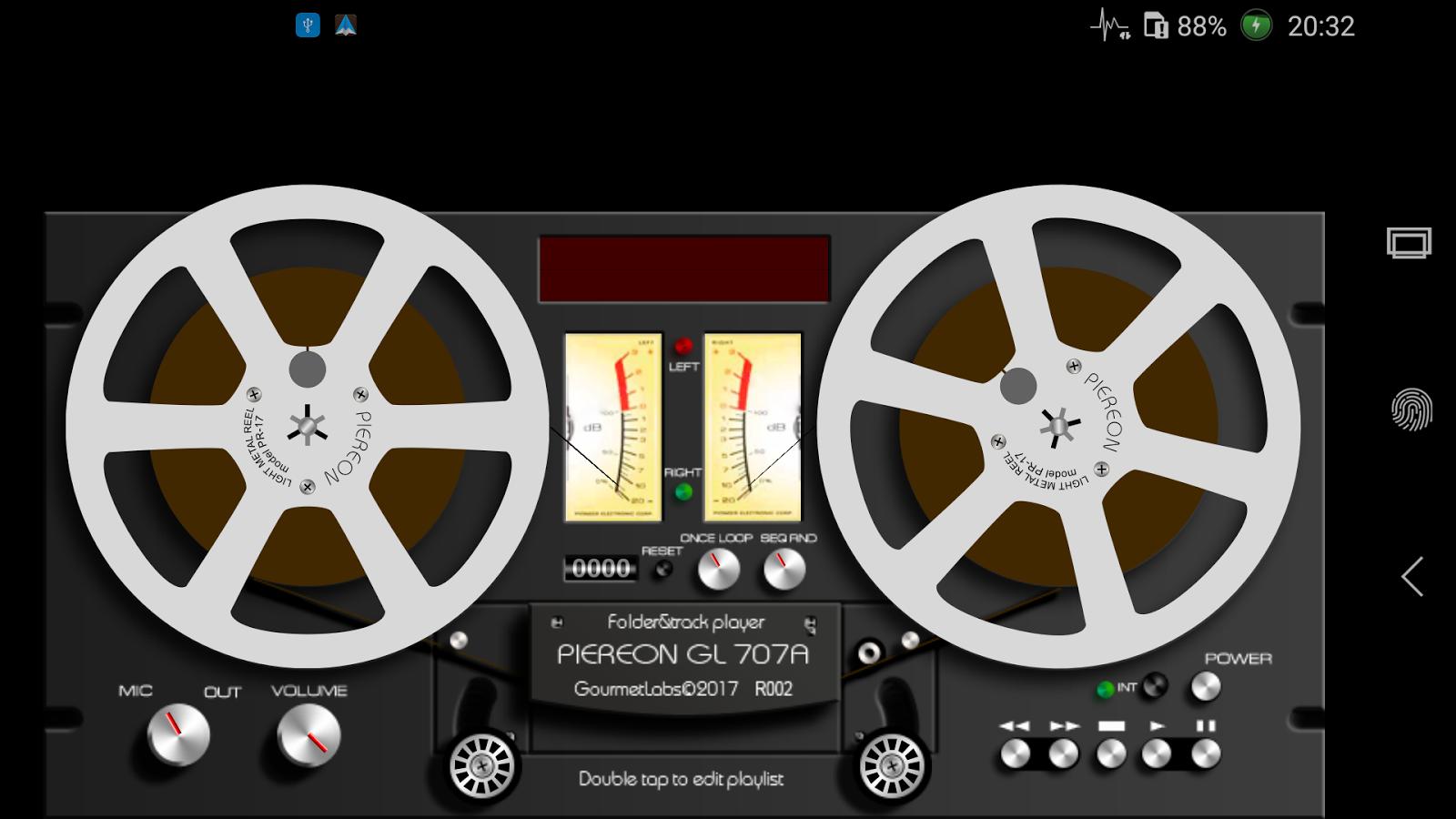 Piereon Gl 707a Folder Player Vu Meter Reel Tape R003 Apk Download Pocket Screenshot 1