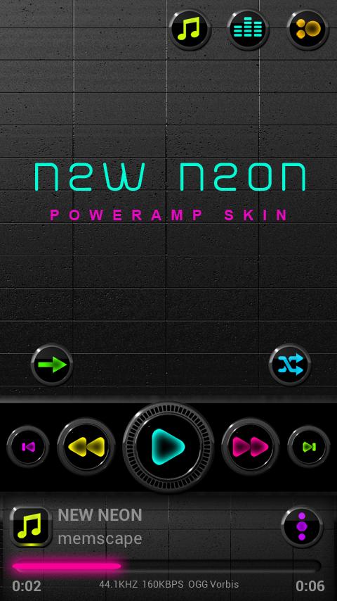 NEW NEON Poweramp skin 3 08 APK Download - Android